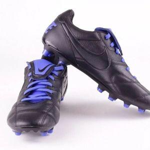 Nike Premier II FG Black Blue Kangaroo Leather